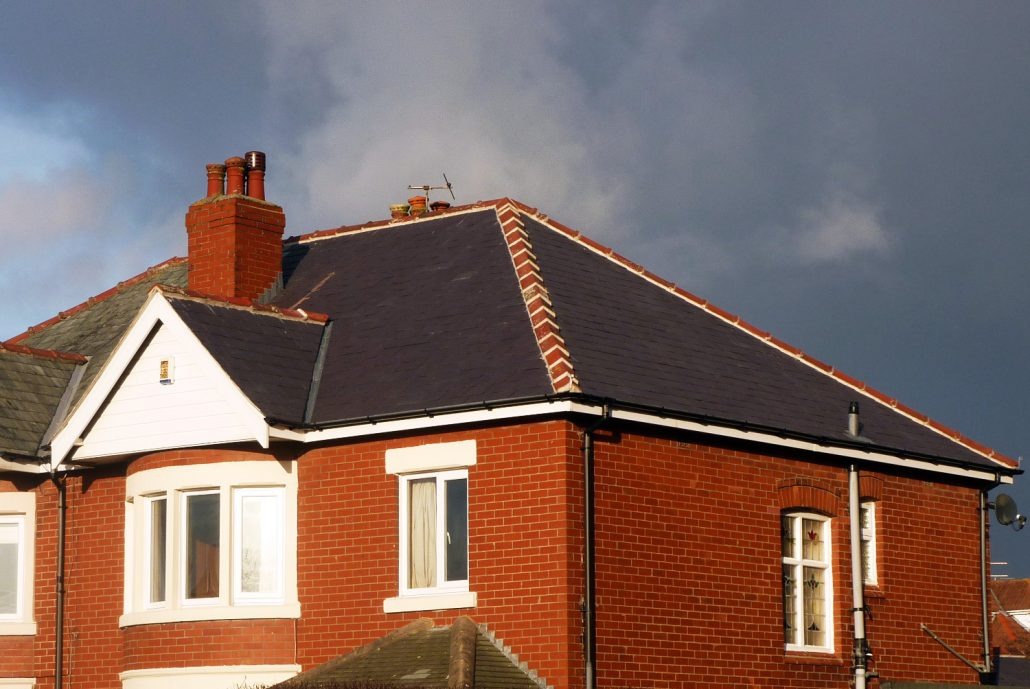 re-slating, roof, new welsh tiles, house, lancashire, nw