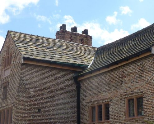 Stone Slating, Slates, Conservation, Ordsall Hall, Salford, Grade I Listed Building